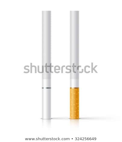white cigarette vector illustration Stock photo © konturvid