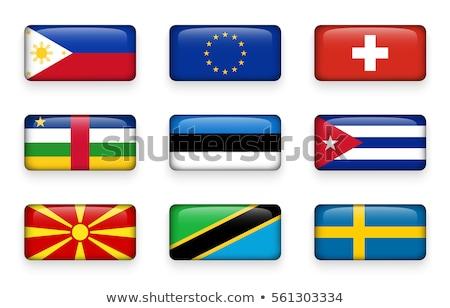 Európai szövetség Tanzánia zászlók puzzle izolált Stock fotó © Istanbul2009