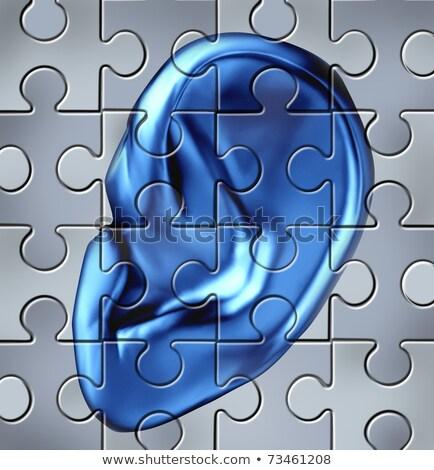 Secrecy - Jigsaw Puzzle with Missing Pieces. Stock photo © tashatuvango