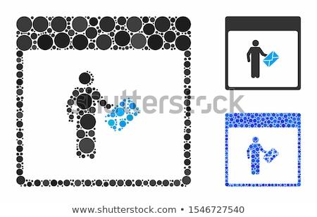 Küld kék cetlik vektor ikon terv Stock fotó © rizwanali3d