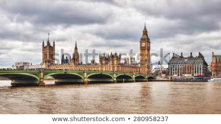 Panoramic overview of Tower bridge in London, Great Britain Stock photo © AndreyKr
