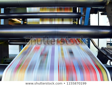 Paper in Offset Printing Machine Stock photo © unkreatives