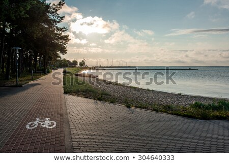 Sunrise over the seaport in the Curonian Lagoon Stock photo © amok