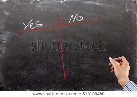 Tak nie listy pisać edukacji Zdjęcia stock © fuzzbones0