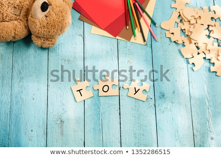 work and career word made by letter pieces stock photo © fuzzbones0