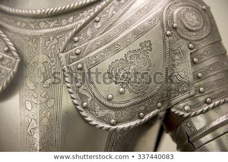 Pantser middeleeuwse ridder metaal bescherming soldaat Stockfoto © Mariusz_Prusaczyk