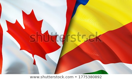 Canada Seychelles drapeaux puzzle isolé blanche Photo stock © Istanbul2009