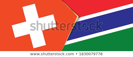 Switzerland and Gambia Flags  Stock photo © Istanbul2009