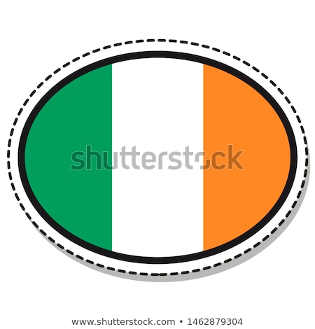 Irish Flag Oval Button Stock photo © Bigalbaloo