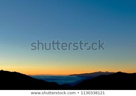 Panorama dağ arka ışık güzel tepeler sonbahar Stok fotoğraf © Kotenko