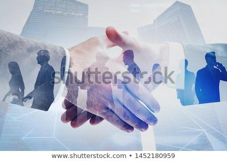 Empresarial equipo conexión gente de negocios dos Foto stock © Lightsource