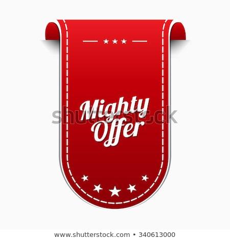 Potężny oferta czerwony wektora ikona projektu Zdjęcia stock © rizwanali3d