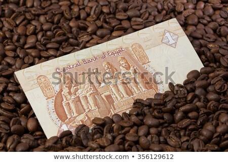 Granos de café egipcio libra café viaje Foto stock © CaptureLight