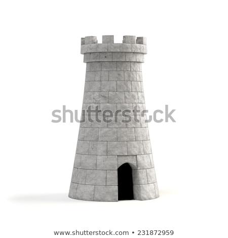 каменные башни старые крепость вечер Cityscape Сток-фото © Kotenko