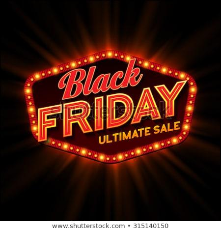 black friday retro light frame vector illustration stock photo © rommeo79