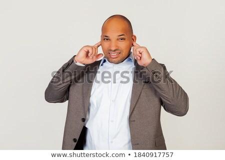Ritratto infastidito depresso pazza giovani imprenditore Foto d'archivio © deandrobot