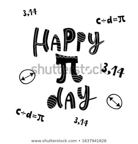 Pi dag poster grafiek grid papier Stockfoto © netkov1