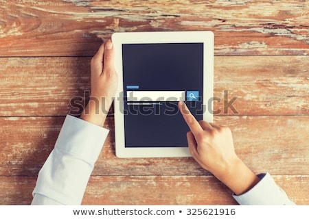 Táblagép internet böngésző keresés kávé üzlet Stock fotó © dolgachov