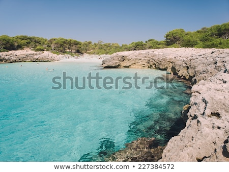 Cala des Talaier beach sea cove in sunny day, Menorca island, Sp Stock photo © tuulijumala