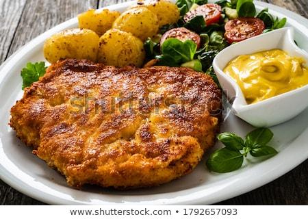 pork chop and potatoes stock photo © digifoodstock