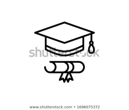 érettségi · szertartás · illusztráció · diplomás · lány · gyermek - stock fotó © marysan