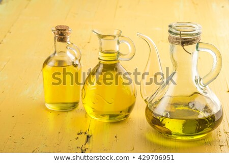 Stock photo: Three oilers glass of  extra olive oil