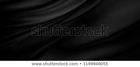 Preto seda tecido cetim vetor têxtil Foto stock © maximmmmum