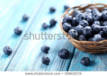 Macro image of blueberry pile on wooden table Stock photo © stevanovicigor