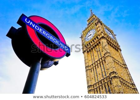 Londres subterrâneo assinar westminster estação 2015 Foto stock © photocreo