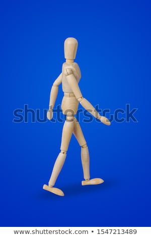 Wooden mannequin running upstairs Stock photo © pakete