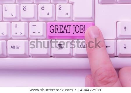Kút szöveg jegyzettömb kék toll felirat Stock fotó © fuzzbones0