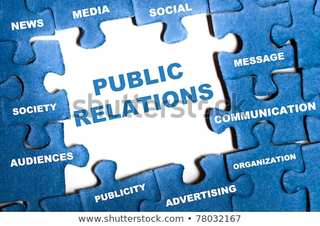 Puzzle with word Public Relations Stock photo © fuzzbones0