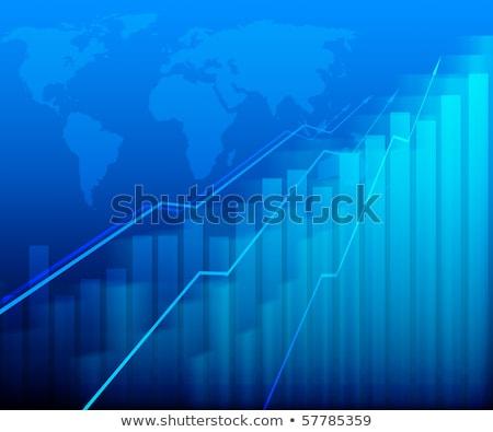számítógépmonitor · grafikon · pénzügyi · növekedés · nyíl · képernyő - stock fotó © Customdesigner