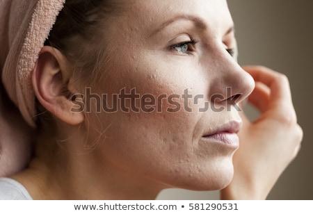 Yüz sorunsal adam beyaz iş arka plan Stok fotoğraf © bluering