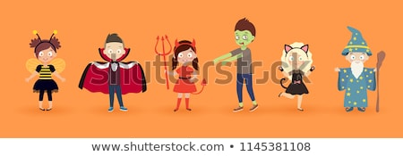 Kid in vampire costume for halloween Stock photo © bluering