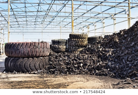 Recycled shredded tire rubber background Stock photo © njnightsky