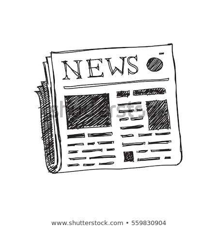 Jornal esboço ícone vetor isolado Foto stock © RAStudio