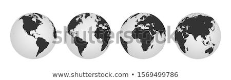 Terra globo ilustração branco preto fundos Foto stock © day908
