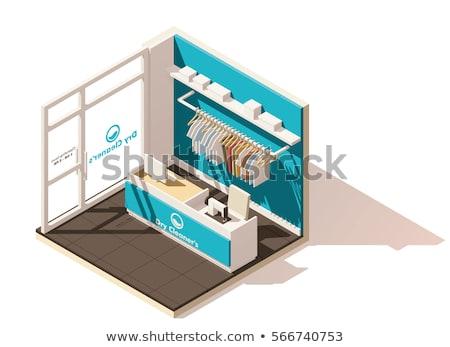Vektor izometrikus alacsony ikon zsakett mosás Stock fotó © tele52