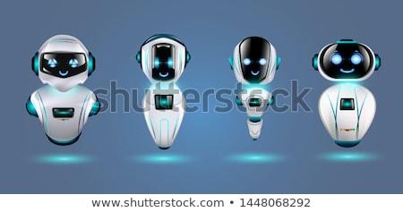 sevimli · robot · cyborg · 3d · render · imzalamak - stok fotoğraf © kjpargeter