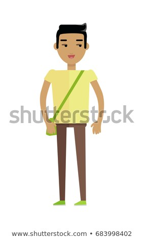 European man in T-shirt and Trousers with Bag Stock photo © robuart
