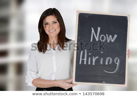 Hiring Now on Chalkboard in the Office. Stock photo © tashatuvango