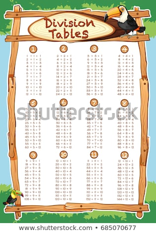 Division tables with toucan bird in background Stock photo © bluering
