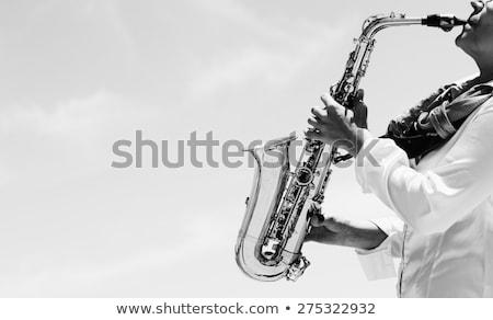 Jazz superior vista hermosa pinup Foto stock © Fisher