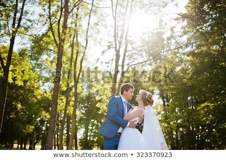молодые красивой невеста Постоянный лестнице Сток-фото © tekso