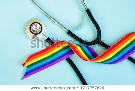 флаг · гей · гордость · красочный · напечатанный · текстуры - Сток-фото © popaukropa