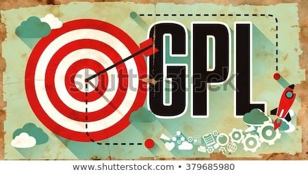 GPL on Grunge Poster in Flat Design. Stock photo © tashatuvango
