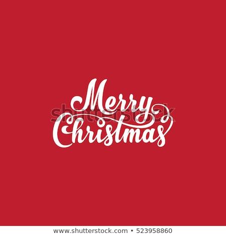 Hand geschreven vrolijk christmas vintage tekst Stockfoto © barsrsind