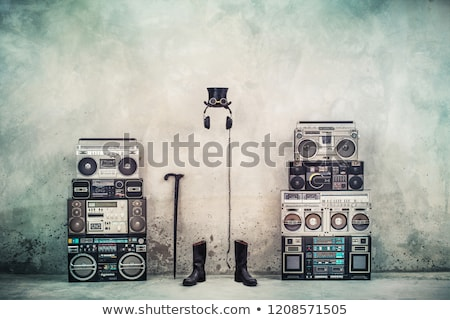 retro · zenelejátszó · bakelit · zene · háttér · hang - stock fotó © carenas1