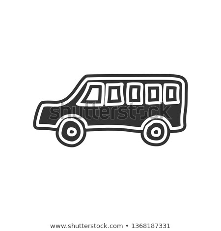 apps · ontwerp · doodle · illustratie · Blauw · schoolbord - stockfoto © tashatuvango